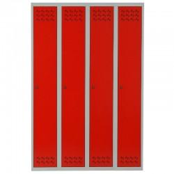 Szafa ubraniowa Metalkas TG-6MSU-ECO z czerwonymi drzwiami